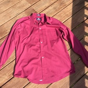 Red Stafford long sleeve Button up